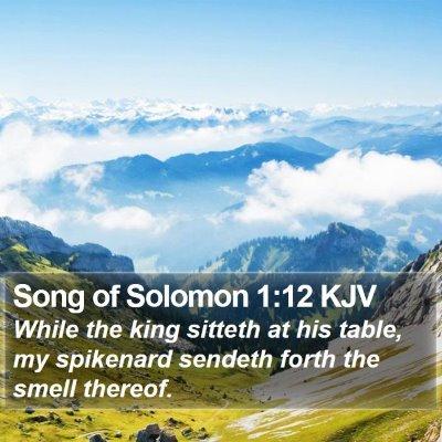 Song of Solomon 1:12 KJV Bible Verse Image