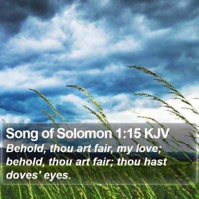 Song of Solomon 1:15 KJV Bible Verse Image