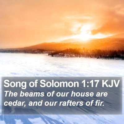 Song of Solomon 1:17 KJV Bible Verse Image