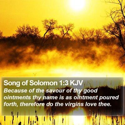 Song of Solomon 1:3 KJV Bible Verse Image