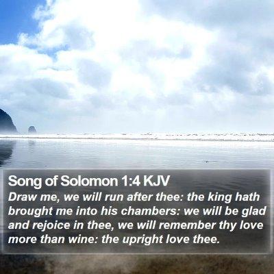 Song of Solomon 1:4 KJV Bible Verse Image