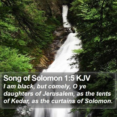Song of Solomon 1:5 KJV Bible Verse Image