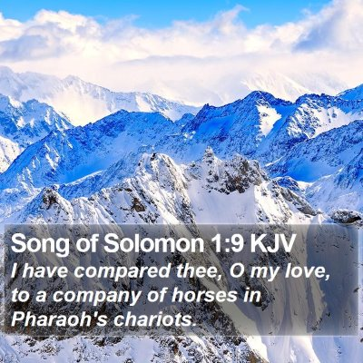 Song of Solomon 1:9 KJV Bible Verse Image