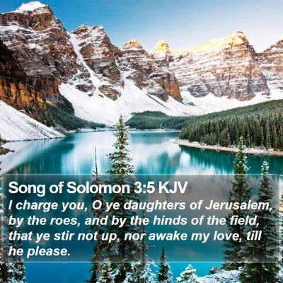 Song of Solomon 3:5 KJV Bible Verse Image