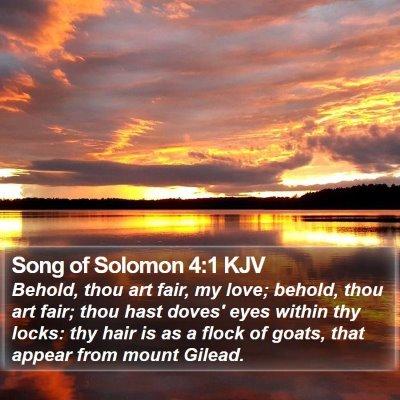 Song of Solomon 4:1 KJV Bible Verse Image