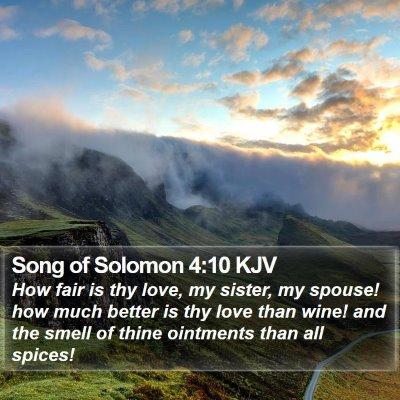 Song of Solomon 4:10 KJV Bible Verse Image
