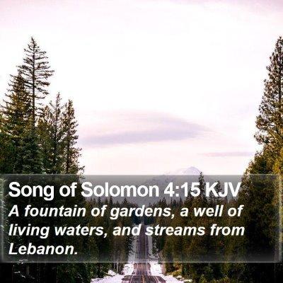 Song of Solomon 4:15 KJV Bible Verse Image