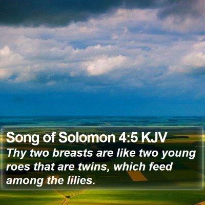 Song of Solomon 4:5 KJV Bible Verse Image