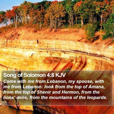 Song of Solomon 4:8 KJV Bible Verse Image