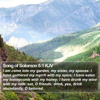 Song of Solomon 5:1 KJV Bible Verse Image