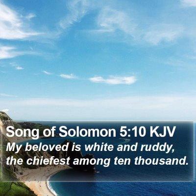 Song of Solomon 5:10 KJV Bible Verse Image