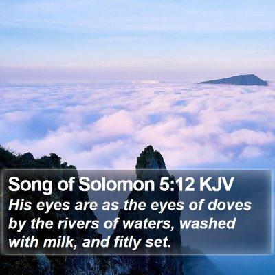 Song of Solomon 5:12 KJV Bible Verse Image