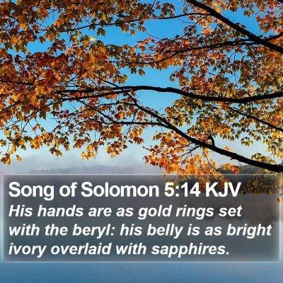 Song of Solomon 5:14 KJV Bible Verse Image