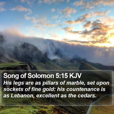 Song of Solomon 5:15 KJV Bible Verse Image