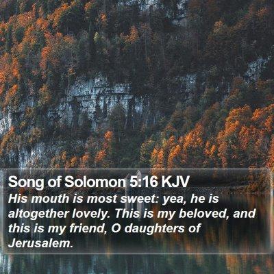 Song of Solomon 5:16 KJV Bible Verse Image