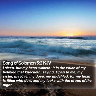 Song of Solomon 5:2 KJV Bible Verse Image