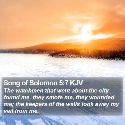 Song of Solomon 5:7 KJV Bible Verse Image