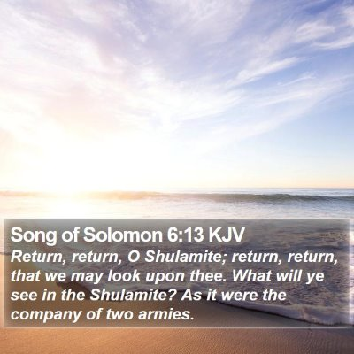 Song of Solomon 6:13 KJV Bible Verse Image