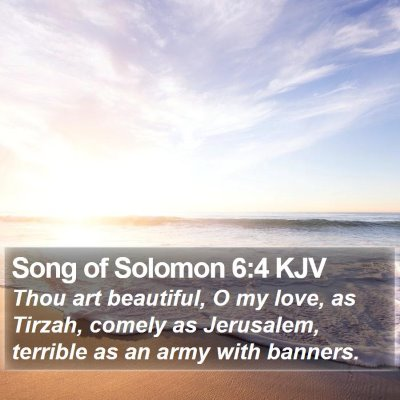 Song of Solomon 6:4 KJV Bible Verse Image