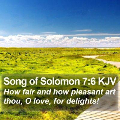 Song of Solomon 7:6 KJV Bible Verse Image
