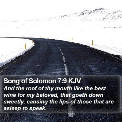 Song of Solomon 7:9 KJV Bible Verse Image