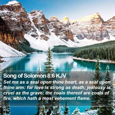 Song of Solomon 8:6 KJV Bible Verse Image