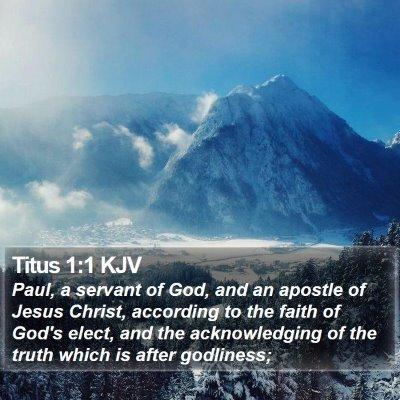 Titus 1:1 KJV Bible Verse Image