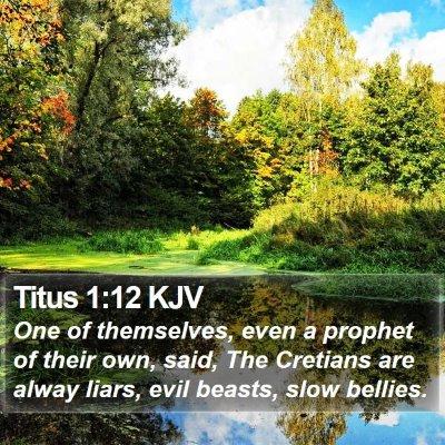Titus 1:12 KJV Bible Verse Image