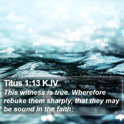 Titus 1:13 KJV Bible Verse Image