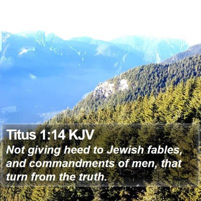 Titus 1:14 KJV Bible Verse Image