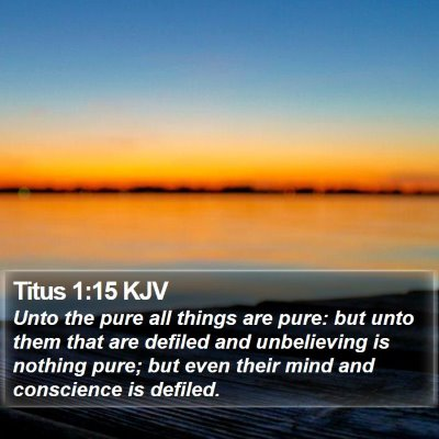 Titus 1:15 KJV Bible Verse Image