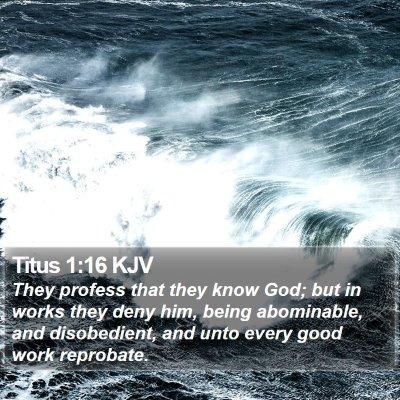 Titus 1:16 KJV Bible Verse Image