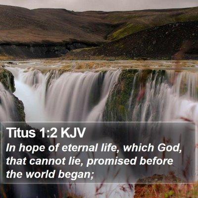 Titus 1:2 KJV Bible Verse Image