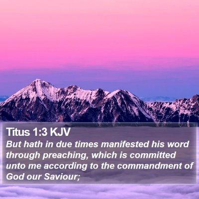 Titus 1:3 KJV Bible Verse Image