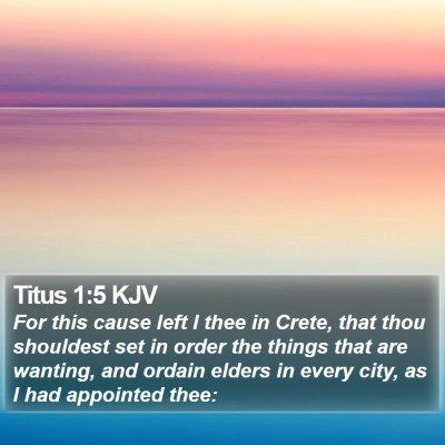 Titus 1:5 KJV Bible Verse Image