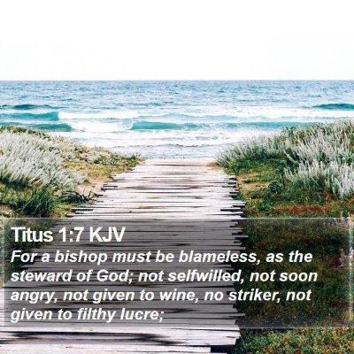 Titus 1:7 KJV Bible Verse Image