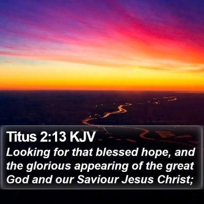 Titus 2:13 KJV Bible Verse Image