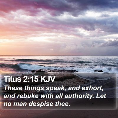 Titus 2:15 KJV Bible Verse Image