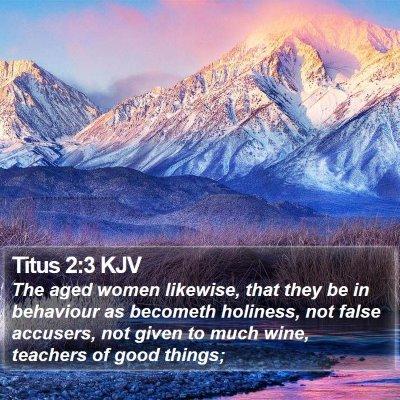 Titus 2:3 KJV Bible Verse Image
