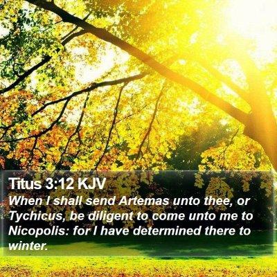 Titus 3:12 KJV Bible Verse Image