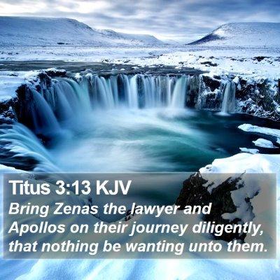 Titus 3:13 KJV Bible Verse Image