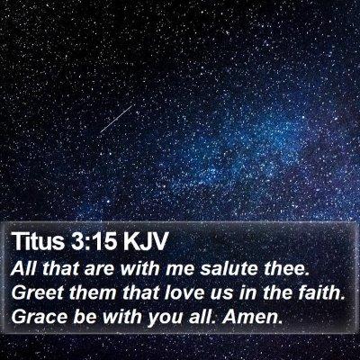 Titus 3:15 KJV Bible Verse Image