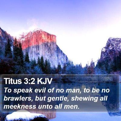 Titus 3:2 KJV Bible Verse Image