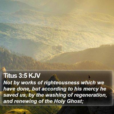 Titus 3:5 KJV Bible Verse Image