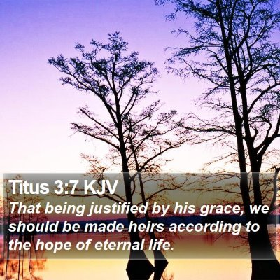 Titus 3:7 KJV Bible Verse Image
