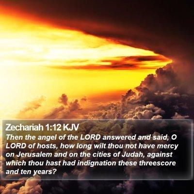 Zechariah 1:12 KJV Bible Verse Image