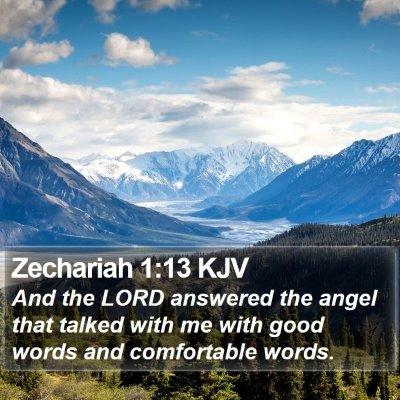 Zechariah 1:13 KJV Bible Verse Image