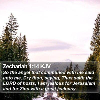 Zechariah 1:14 KJV Bible Verse Image