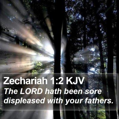 Zechariah 1:2 KJV Bible Verse Image