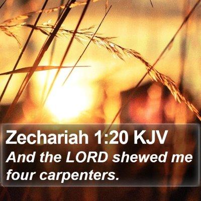 Zechariah 1:20 KJV Bible Verse Image